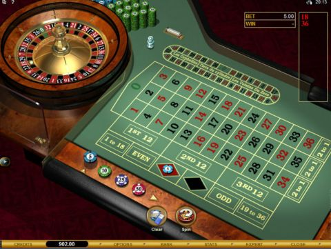 European Roulette Gold, сделано Microgaming.