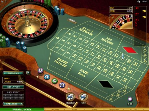 French Roulette Gold, сделано Microgaming.