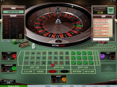 Multi-Player Roulette Diamond Edition, сделано Microgaming.