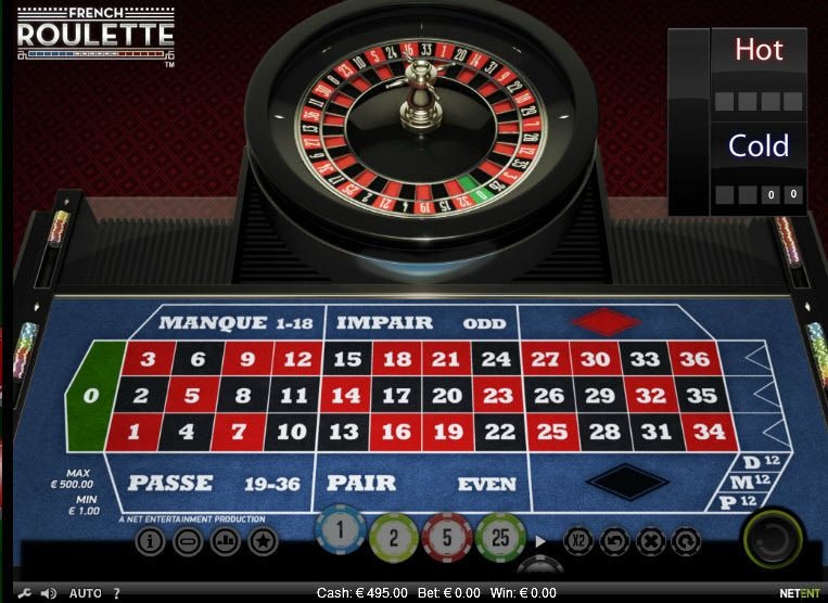 French Roulette, сделано NetEnt.